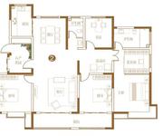 205㎡S户型居  4室2厅2卫1厨