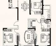 H户型  3室2厅2卫1厨